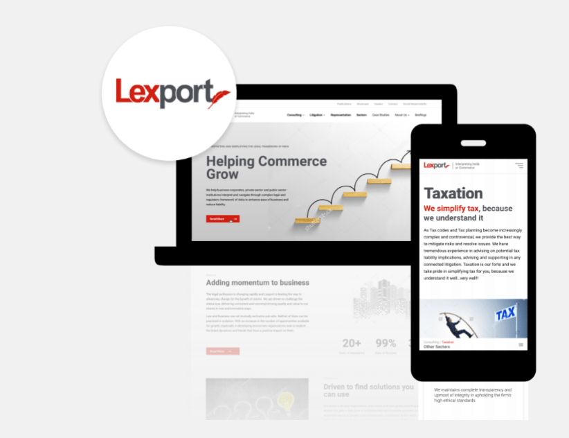 Lexport - Website & UX Design